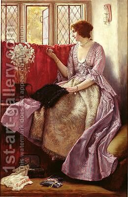 Waiting by James Dromgole Linton - Reproduction Oil Painting