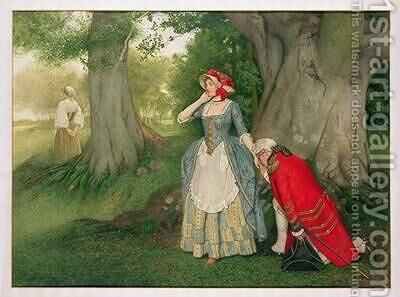 The Proposal by James Dromgole Linton - Reproduction Oil Painting