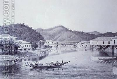 Bridge over the river Pirahy by C. Lindo - Reproduction Oil Painting