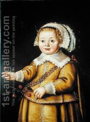 Portrait of Anne Gibson as a Child by Adriaen van der Linde - Reproduction Oil Painting