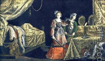 Judith with the Head of Holofernes by Jacopo Ligozzi - Reproduction Oil Painting