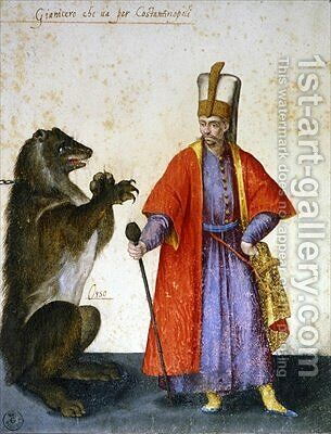 Janissary by Jacopo Ligozzi - Reproduction Oil Painting