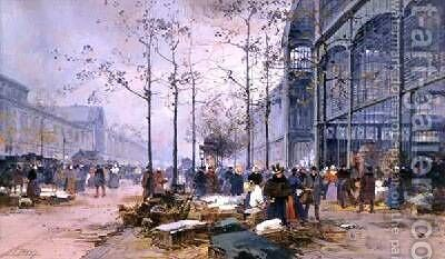 Les Halles Paris by Jacques Lieven - Reproduction Oil Painting