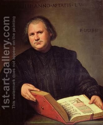 Portrait of a Man with a Missal 1524 by Bernardino Licinio - Reproduction Oil Painting