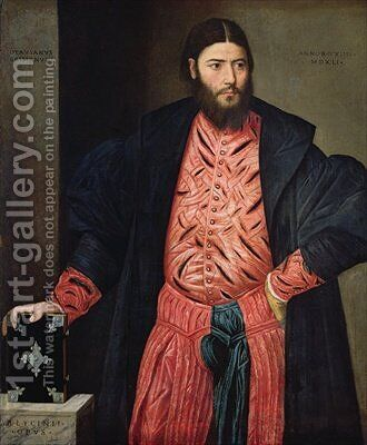 Portrait of Ottavio Grimani by Bernardino Licinio - Reproduction Oil Painting