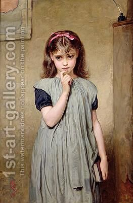 A Young Girl in the Classroom 1876 by Charles Sillem Lidderdale - Reproduction Oil Painting