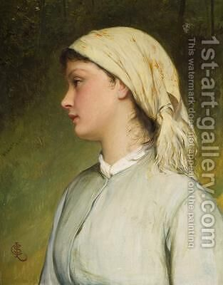 Portrait Study for Sarah by Charles Sillem Lidderdale - Reproduction Oil Painting