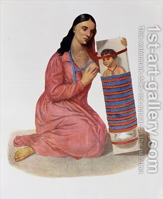 Chippeway Mother and Child 1826 by James Otto Lewis - Reproduction Oil Painting