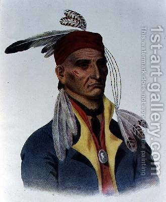 Shin-ga-ba WOssin or Image Stone a Chippeway Chief by James Otto Lewis - Reproduction Oil Painting