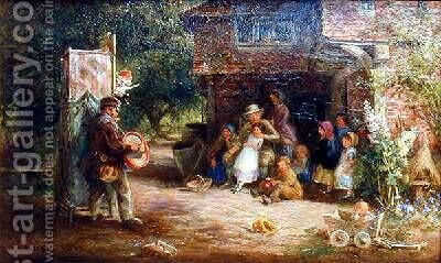 Punch in the Country 1858 by Charles James Lewis - Reproduction Oil Painting