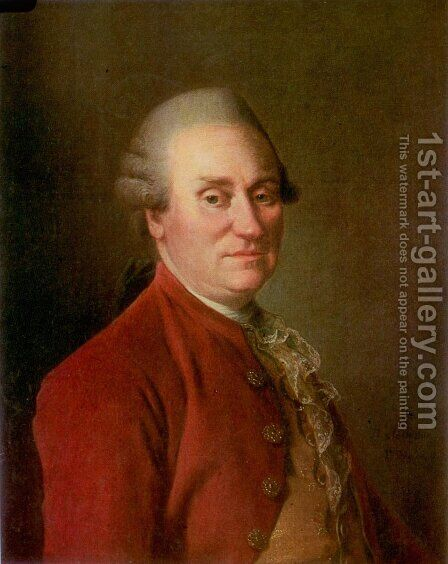 Portrait of Mark Fedorovich Poltoratsky 1727-95 by Dmitry Levitsky - Reproduction Oil Painting