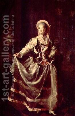 Portrait of Alexandra Petrovna Liovshina 1757-82 by Dmitry Levitsky - Reproduction Oil Painting