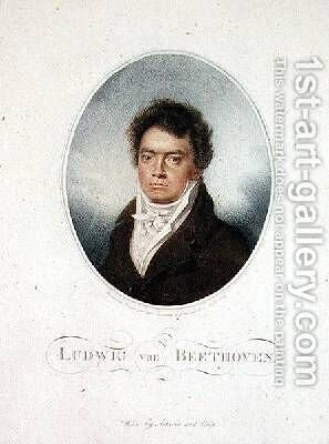 Lugwig van Beethoven 1770-1827 by (after) Letronne, Louis Rene - Reproduction Oil Painting