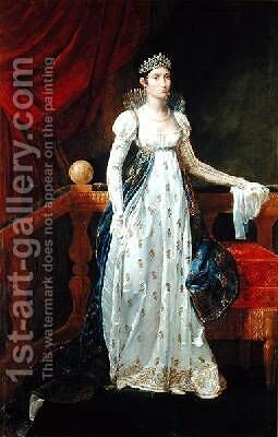 Elisa Bonaparte 1777-1820 Princess Bacciochi by Guillaume Guillon Lethiere - Reproduction Oil Painting