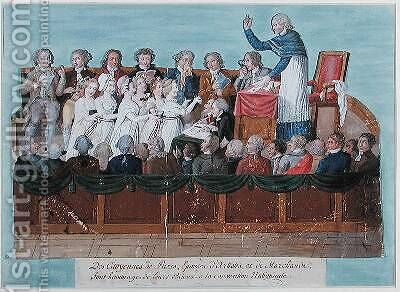 The Citizens of Paris giving their Jewels to the National Convention by Brothers Lesueur - Reproduction Oil Painting