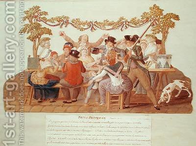 A Republican Meal Messidor by Brothers Lesueur - Reproduction Oil Painting