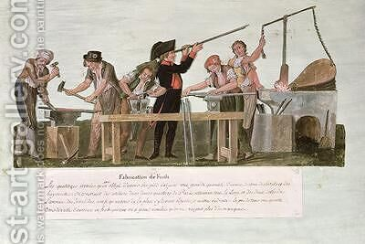 Rifle Makers Workshop by Brothers Lesueur - Reproduction Oil Painting