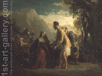 Don Quixote and Dorothea by Charles Robert Leslie - Reproduction Oil Painting
