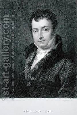 Washington Irving 1783-1859 by Charles Robert Leslie - Reproduction Oil Painting
