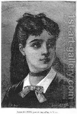 Sophie Germain 1776-1831 aged 14 by Auguste Eugene Leray - Reproduction Oil Painting