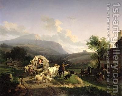 A Rural Landscape by Auguste-Xavier Leprince - Reproduction Oil Painting
