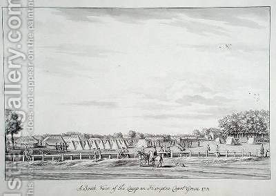 A South View of the Camp on Hampton Court Green by Bernard III Lens - Reproduction Oil Painting