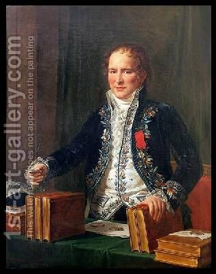 Portrait of Antoine Francois de Fourcroy 1755-1809 by Anicet-Charles-Gabriel Lemonnier - Reproduction Oil Painting