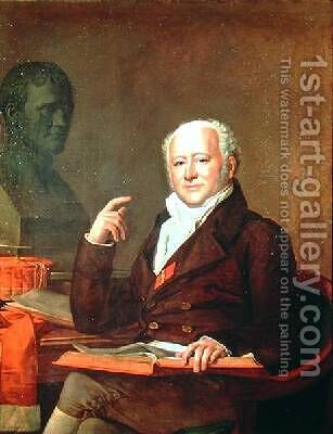 Portrait of Jean Nicolas Corvisart des Marets 1755-1821 by Anicet-Charles-Gabriel Lemonnier - Reproduction Oil Painting