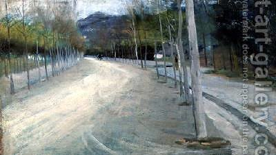On the Viale Florence by Arthur Lemon - Reproduction Oil Painting
