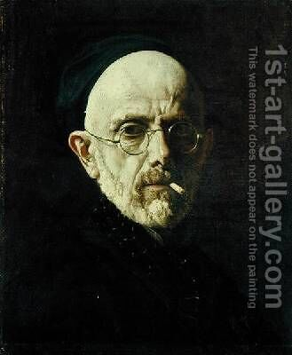 Self Portrait by Henri (Karl Ernest Rudolf Heinrich Salem) Lehmann - Reproduction Oil Painting