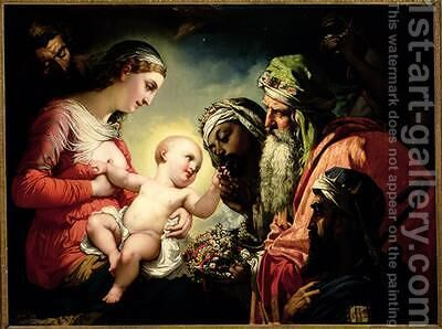 Adoration of the Magi by Henri (Karl Ernest Rudolf Heinrich Salem) Lehmann - Reproduction Oil Painting