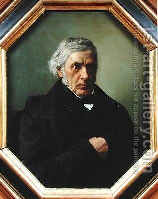 Portrait of Victor Cousin 1792-1867 by Henri (Karl Ernest Rudolf Heinrich Salem) Lehmann - Reproduction Oil Painting