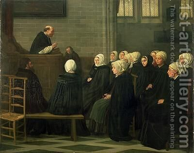 The Sermon by Alphonse Legros - Reproduction Oil Painting