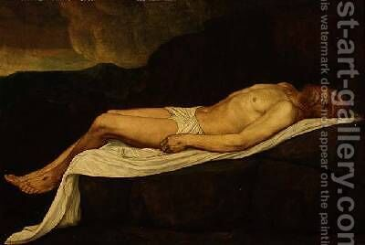 The Dead Christ by Alphonse Legros - Reproduction Oil Painting