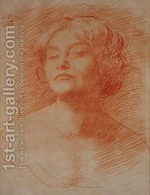 Alice Knewstub by Alphonse Legros - Reproduction Oil Painting