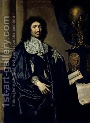 Portrait of Jean-Baptiste Colbert de Torcy 1619-83 by Claude Lefebvre - Reproduction Oil Painting