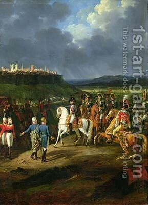 The English Prisoners at Astorga Being Presented to Napoleon Bonaparte 1769-1821 in 1809 by Hippolyte Lecomte - Reproduction Oil Painting