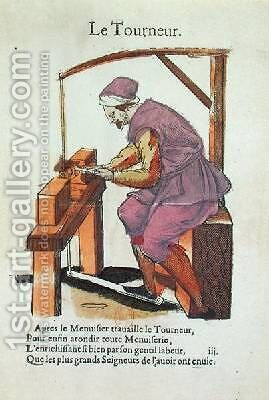 The Wood Turner by Jean Achille Leclerc - Reproduction Oil Painting