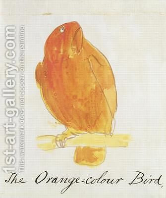 The Orange Colour Bird by Edward Lear - Reproduction Oil Painting