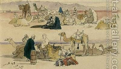 Near Suez by Edward Lear - Reproduction Oil Painting