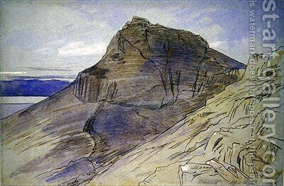 Masada on the Dead Sea by Edward Lear - Reproduction Oil Painting