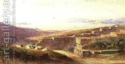 Argos from Mycenae by Edward Lear - Reproduction Oil Painting