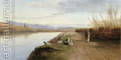 The Roman Campagna by Edward Lear - Reproduction Oil Painting