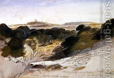 Rocky Valley near Musta Malta by Edward Lear - Reproduction Oil Painting