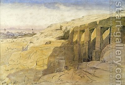 Derr Egypt by Edward Lear - Reproduction Oil Painting