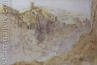 Dar Mar Sabbas Palestine by Edward Lear - Reproduction Oil Painting