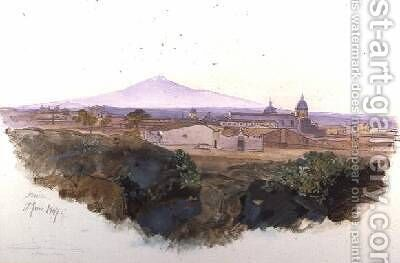 Catania by Edward Lear - Reproduction Oil Painting