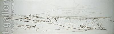 Castel dell Osa by Edward Lear - Reproduction Oil Painting