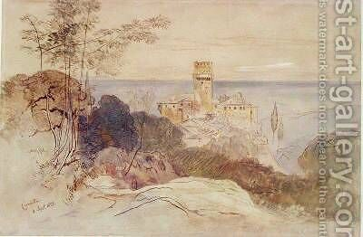 The Monastery of Caracalla by Edward Lear - Reproduction Oil Painting