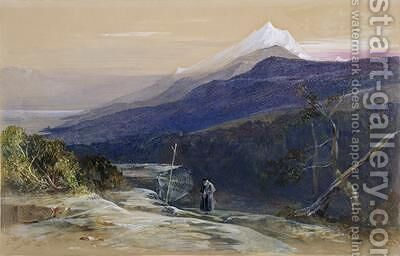 Mount Athos 2 by Edward Lear - Reproduction Oil Painting